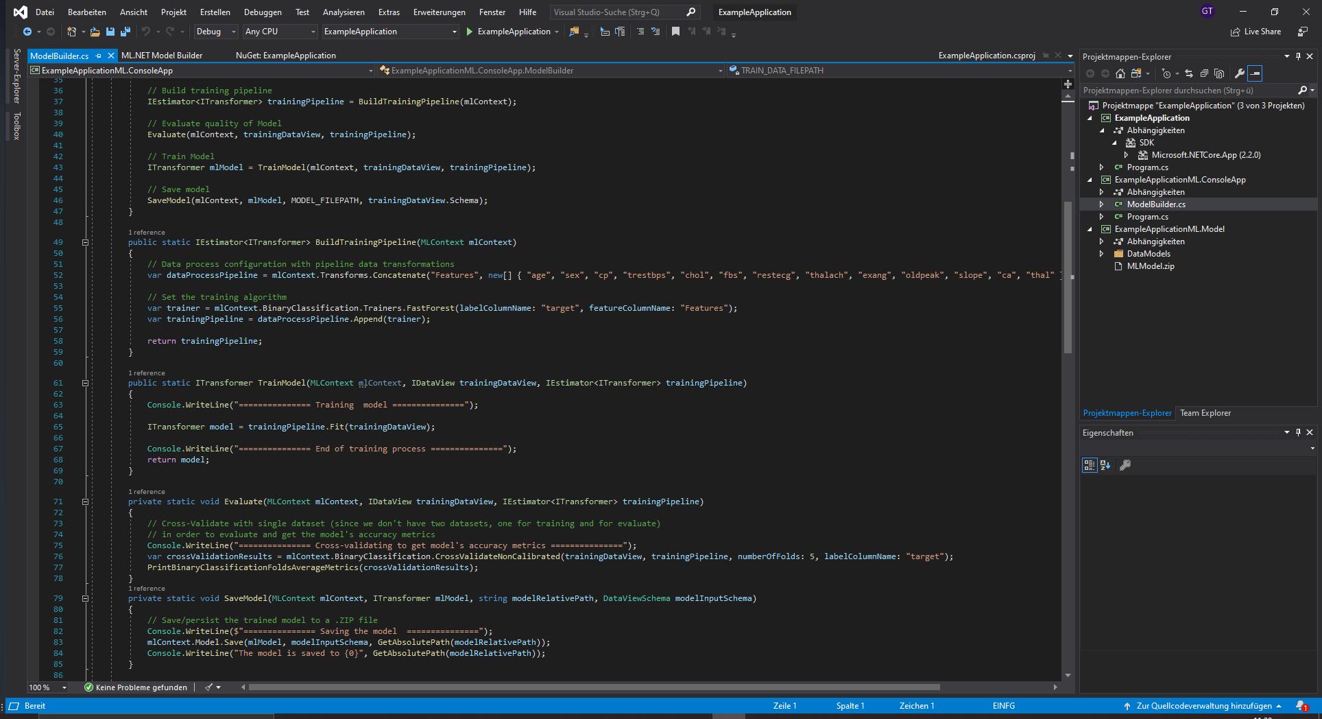 ML.NET Example